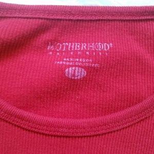 Motherhood Maternity Tops - Motherhood Maternity Ribbed Crew Neck Long Sleeve